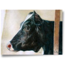 Cow painting crayons oil pastels paintings in high quality prints