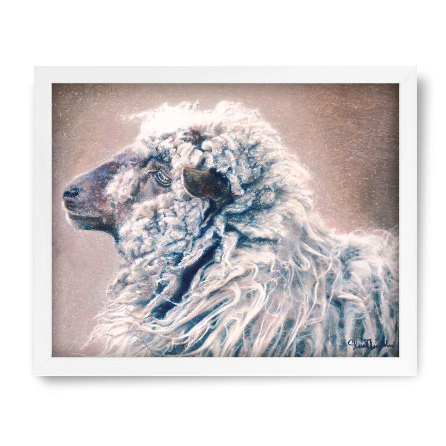 Sheep painting crayons oil pastels paintings in high quality prints